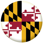 Maryland State Flag 58mm Mirror Keyring